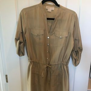 Michael Kors silk camp dress